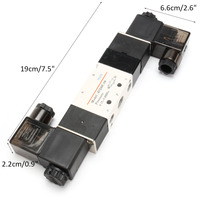 1Pcs 4V230C 08 DC12V 3 5 W 29mA 3 Position 5 Way Pneumatic Air Solenoid Valve