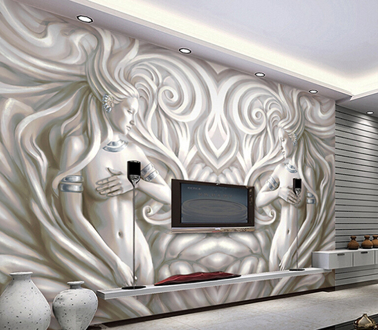 3d papel de parede Embossed Ciment Sexy Lady 3d wall murals wallpaper for Living room TV background 3d Photo mural Figure Murals wdbh custom mural 3d photo wallpaper gym sexy black and white photo tv background wall 3d wall murals wallpaper for living room