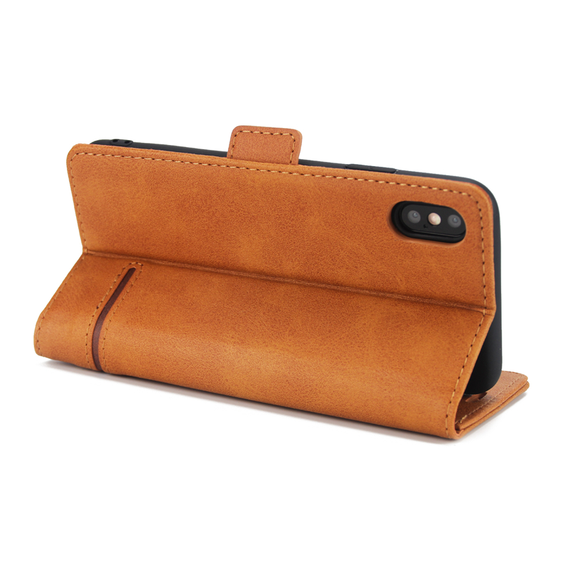 Leather Wallet Cover Cases For iPhone X Xs Max XR Flip Case Shockproof Holder Cover For iPhone 7 8 Plus 6 6S Plus Leather Case in Flip Cases from Cellphones Telecommunications