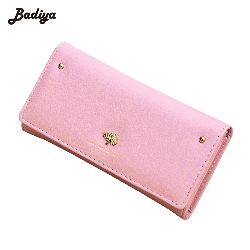 High Quality PU Leather Wallet Card Holder Check Purse New Design Women Clutch Purse Multifunction Ladies Credit Card Holder купить