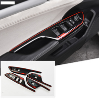 Lsrtw2017 abs car window control panel trims for honda civic 2016 2017 2018 2019 10th civic