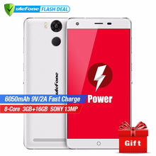 Ulefone Power Handy 5,5 Zoll FHD MTK6753 Octa-core Android 6,0 3 GB RAM 16 GB ROM 13MP Kamera 4G LTE Fingerprint ID 6050 mAh