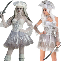 2018 new high quality Halloween lace side pirate plays horror ghost festival zombie costume party carnival female adult devil co