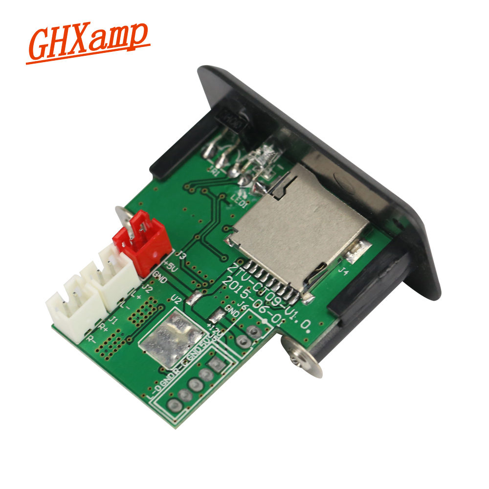 GHXAMP Mini 5V Amplifier Audio Board 3W+3W Stereo With MP3 Decoder TF Card U Disk Playback