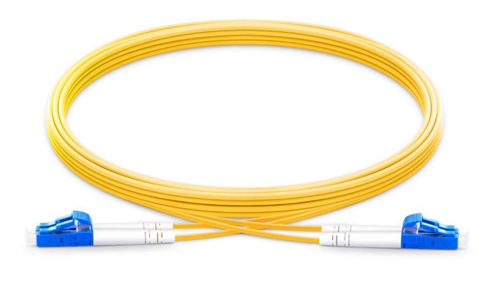 FirstFiber 5 m LC UPC to LC UPC Duplex 2.0mm PVC OS2 Single mode Bend Insensitive Fiber Patch Cable, Jumper, Patch Cord