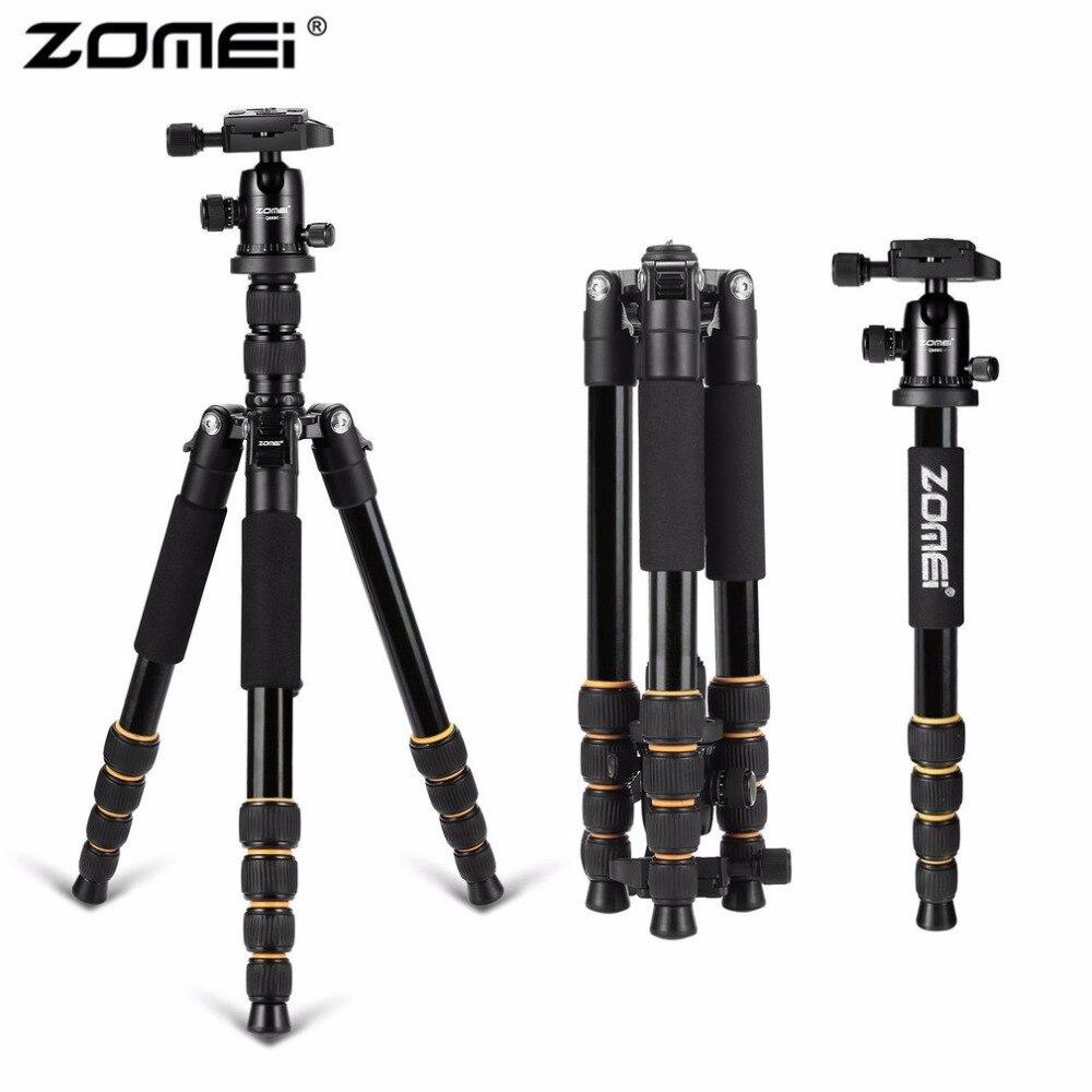 Zomei Q666 professionnel appareil photo trépied léger Portable voyage monopode en aluminium avec 360 degrés rotule pour appareil photo DSLR
