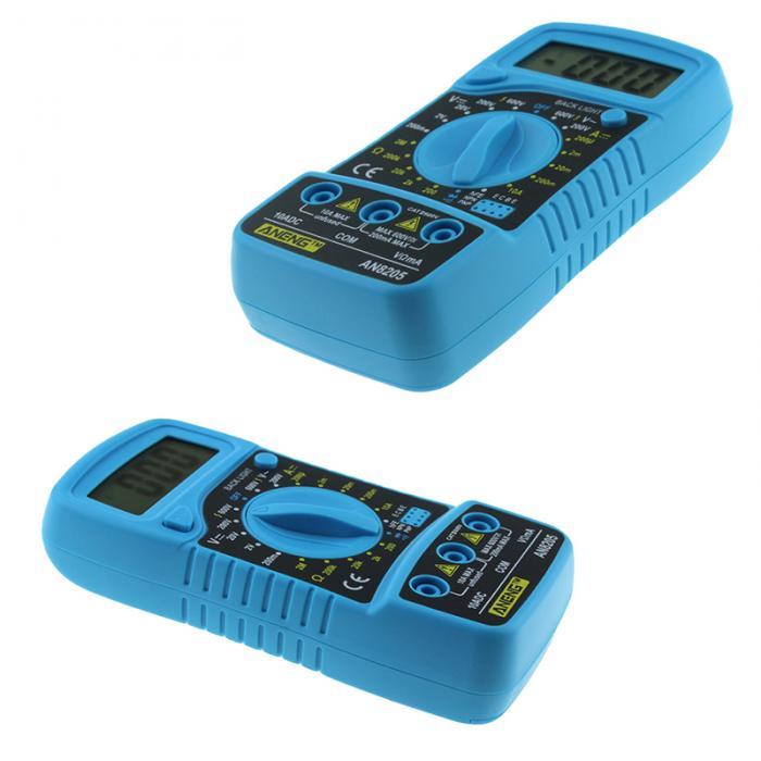 Novo profissional an8205 multímetro digital portátil multi