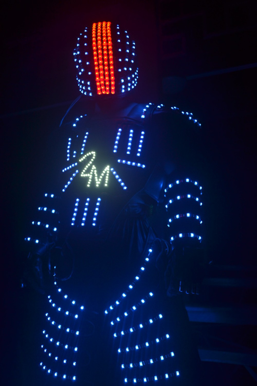 robot suit led clothing dance men interstellar robot luminous costumes show halloween mardi gras carnival science - Halloween Led Costume