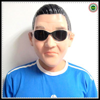 Hot Selling Halloween Party Celebration Toys Gangnam Style Psy latex Mask Korean Celebrity Costume Party Cosplay