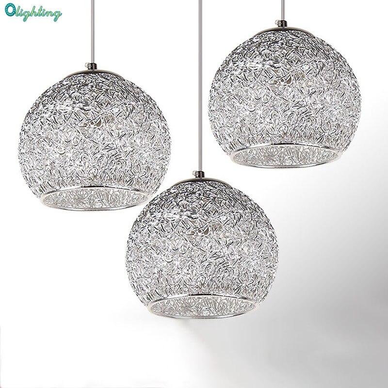 Modern Silver Pendant Light Aluminum Strings Ball Elegant Vintage American Bar Lighting Kitchen Pendant Lamps Restaurant Dining Kitchen Pendant Lamps Pendant Lamplamps Restaurant Aliexpress