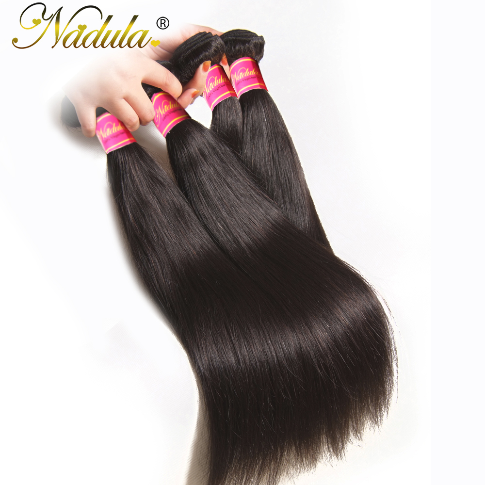 Nadula Hair 3 Bundles Brazilian Straight Hair With Closure 4 4 Lace Closure With Human Hair Nadula Hair 3 Bundles Brazilian Straight Hair With Closure 4*4 Lace Closure With Human Hair Weaves Straight Bundles With Closure