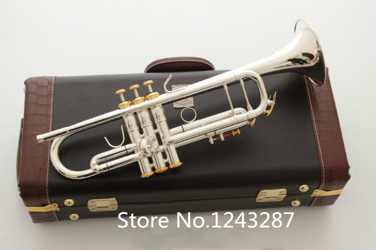 Bach Trumpet LT180S 72 High quality New trumpet silver plateds Gilding  instruments Professional performance free shipping trumpet bb bach trumpet for sale lt180s to 37 instrument b surface silver plating exquisite design durable wholesale 2016 new