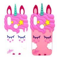 3D Cartoon Unicorn Soft Silicone Case Redmi Note 7 6A 6 Pro S2 5A 5 4 4X Cute Ears Horse Cover For Xiaomi mi A2 Lite 5X 6X Case