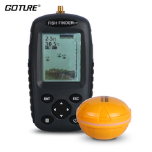 Goture Bilingual Russian / English Wireless Fish Finder 0.6-40m Fishing Depth Sounder Echo-sounder Fishfinder Fishing Tackle