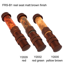 Riverruns Classic Design Fly Rod Reel Seat Matt Brown Finish Aluminum Reel Seat DIY Wood Reel Seat For Fly Fishing Rod