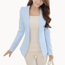 New Fashion Women Solid Blazer Females Casual Suit Womens Single Button Slim  Jacket Female Top Coat Cape Ladies Korean Style c8c92b2f87ca