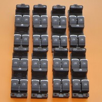 8Pcs Car Chrome Side Window Lock Master Switch Button For VW Jetta Golf MK4 Passat B5 1999 2005 3BD 959 857 1J4 959 857 D