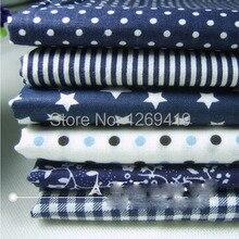 6 шт., 50*50 см, синяя серия, хлопковая ткань, четверть, набор Тильда для рукоделия, лоскутное шитье, кукла, шитье, детский текстиль, постельные принадлежности, Tecido