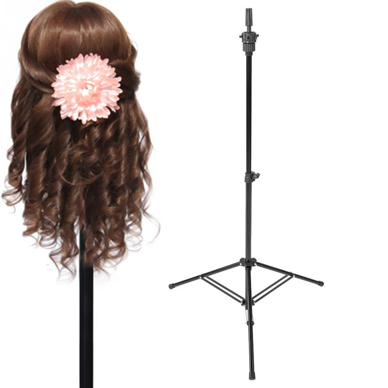 Adjustable Wig Stands Tripod Stand Hair Mannequin Training Hairdressing Clamp Hair Wig Salon Tools steel mannequin tripod stand hair salon adjustable tripod wig stand hairdressing training head clamp holder