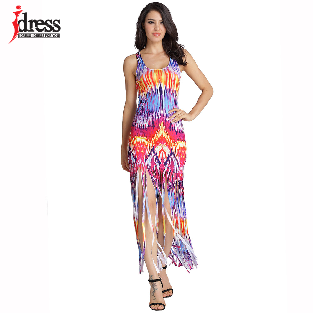 1bd47175c5 IDress 3 Colors XXL New Hot Selling Summer Casual Beach Dresses Sleeveless  Tank Top Tassels Long Women Maxi Dress Vestidos-in Dresses from Women's  Clothing ...