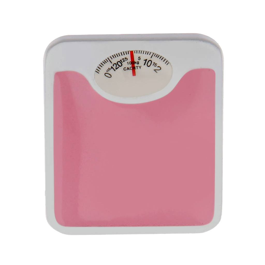 Pink Bathroom Scale Doll House Miniature Home Living Room Decoration 12th