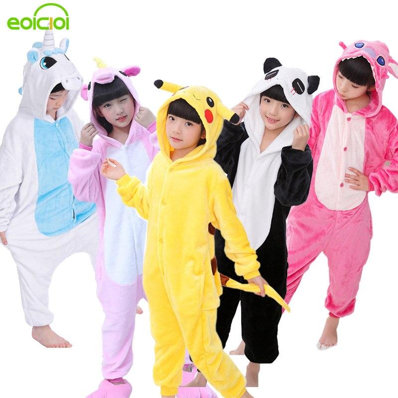 e47334bee4e18 EOICIOI Nouveau Flanelle Bébé Garçons pyjama filles Ensembles Animal  Unicornio Point De Dinosaure Panda Pyjamas Enfants