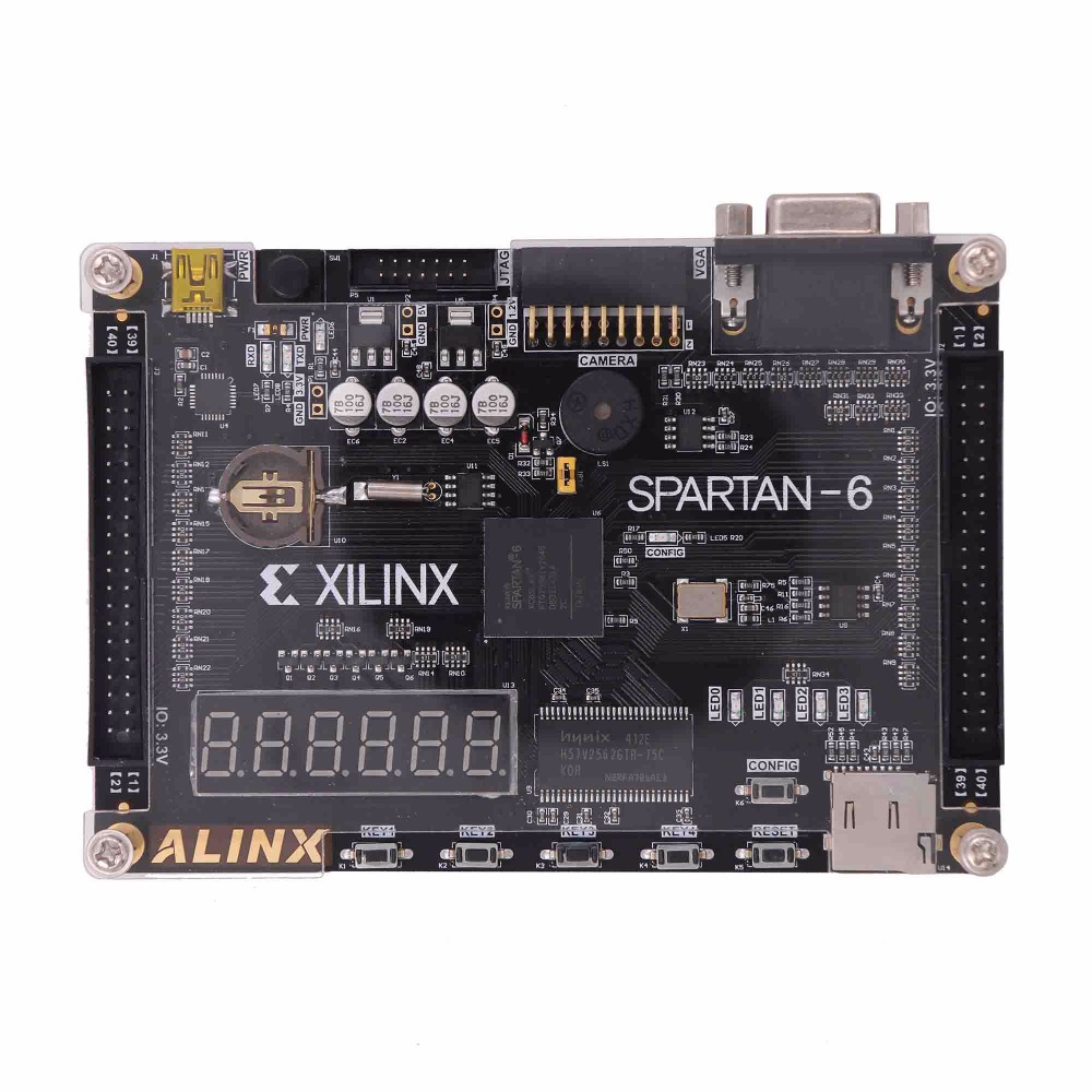 Carte de développement Xilinx Spartan6 fpga XC6SLX9 256 mo caméra SDRAM FLASH carte SD VGA