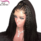 Kinky Straight Lace Front Wig 150% Density Lace Front Human Hair Wigs With Baby Hair 13x6 Brazilian Remy Hair Wig Pre Plucked