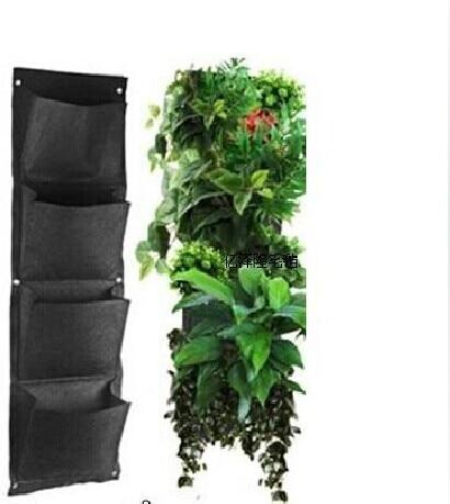 vertikalen garten gr ne wand wachsen taschen f r pflanzen. Black Bedroom Furniture Sets. Home Design Ideas