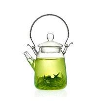 Venta caliente haz levantar olla maceta tetera de Cristal juego de té Chino