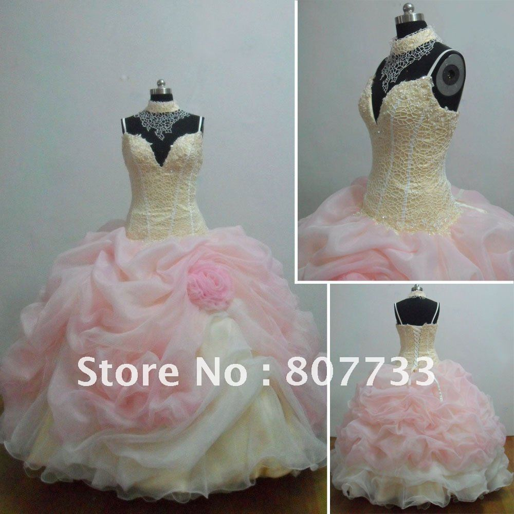 Free shipping cost real picture ruffled organza ball gown baby free shipping cost real picture ruffled organza ball gown baby pink wedding dress in wedding dresses from weddings events on aliexpress alibaba ombrellifo Image collections
