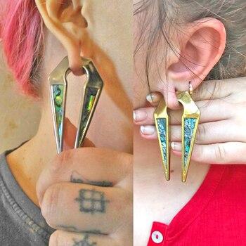 BOG piercing 2 pares Venta caliente oro y acero shell oreja clip Acero inoxidable oreja calibres de perforación joya expansora para el cuerpo venta