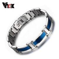 Vnox Khỏe Mạnh Vòng Tay Chăm Sóc Bangle Magnetic Germanium Hợp Thời Trang Màu Xanh Men Jewelry 316l Stainless Steel