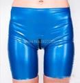 Latex Boxer Women Sexy Latex Boxer Crotch Zipper Rubber Women's Exotic Underwear
