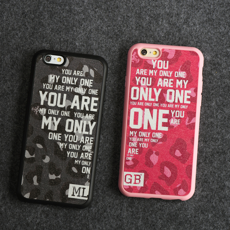Valentine YOU ARE MY ONLY Design for Lover/Couple Case for iPhone 5/5S/6/6 plus 4.7 5.5 Soft Silicone Cover fundas