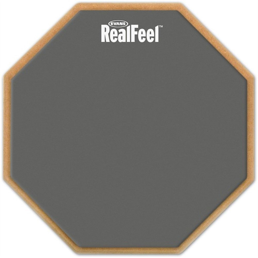 Evans by DAddario RF12G Realfeel Practice Pad 12 inches -1-Sided Speed Pad ...