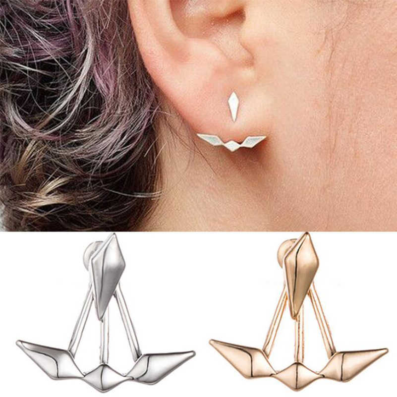 Shuangshuo 2018 New Zircon Geometric Ear Cuff Clip Anchor Earrings For Women Piercing Earring Jackets Fashion Jewelry Brincos