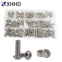Hex Socket Button Head Cap Screw Metric Thread Pan Round Hexagon Machine Bolt Set Assortment Kit Box 304 Stainless Steel M5