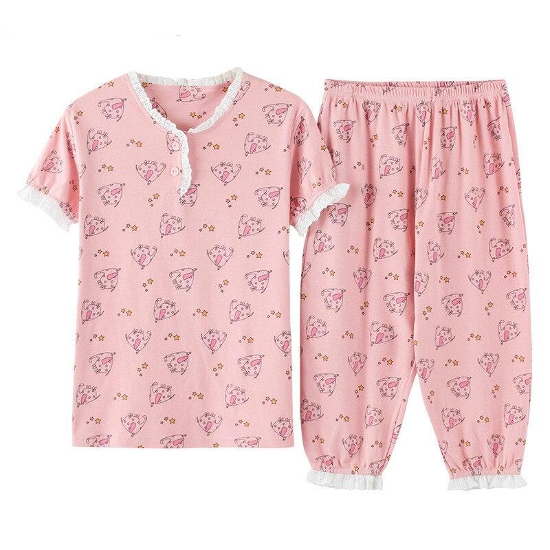 416c60ea Ropa de dormir cómoda de dibujos animados ropa de dormir de algodón  transpirable para niña
