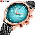 CURREN Топ бренд мужские спортивные часы Креативный дизайн хронограф кварцевые наручные часы стальной ремешок Дата Часы Relogio Masculino Reloj