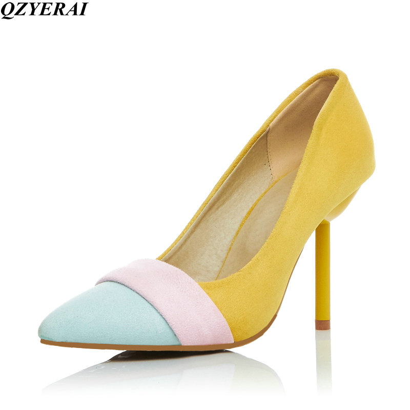 QZYERAI 2018 new arrivals girls shoes high <font><b>heels</b></font> <font><b>women's</b></font> shoes comfortable high <font><b>heels</b></font> 34-43 image