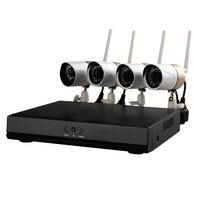 Wanscam HW0047 CCTV System 4CH 720P HD Security Camera wifi P2P NVR Surveillance Home CCTV Kit Night Vision 4PCS IP Camera