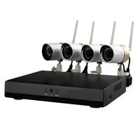 Wanscam HW0047 CCTV System 4CH 720P HD Security Camera wifi P2P Onvif NVR Surveillance Home CCTV Kit Night Vision 4PCS IP Camera
