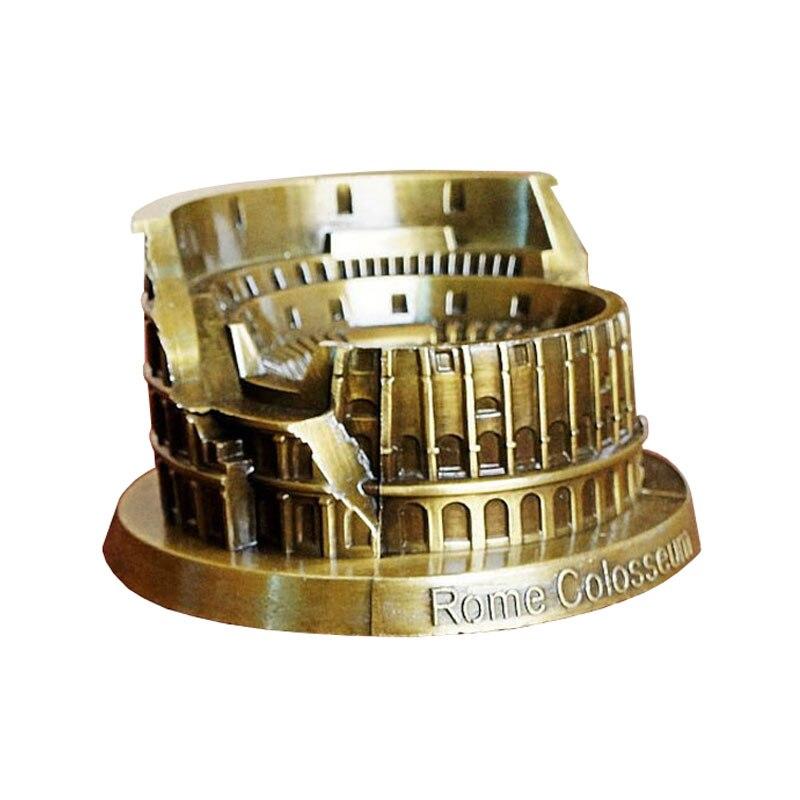 Rome Colosseum Miniatures Beauty Model Famous Landmark Souvenir Bronze Italy Colosseum Home Decor  couples blanket