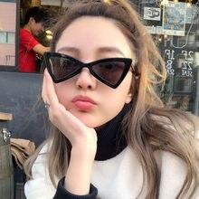 0d15668e9 BAMONA triângulo vermelho óculos de sol das mulheres leopardo preto barato  borboleta óculos de sol do olho de gato do vintage fe.
