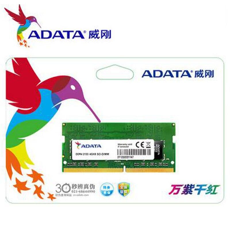 Pour ADATA 1.2 V 4 GB 8 GB DDR4 2400 Mhz Ordinateur Portable DIMM Mémoire Vie Béliers 260 Broches Portable béliers ddr 4 SO-DIMM 2400 Mhz Nouveau