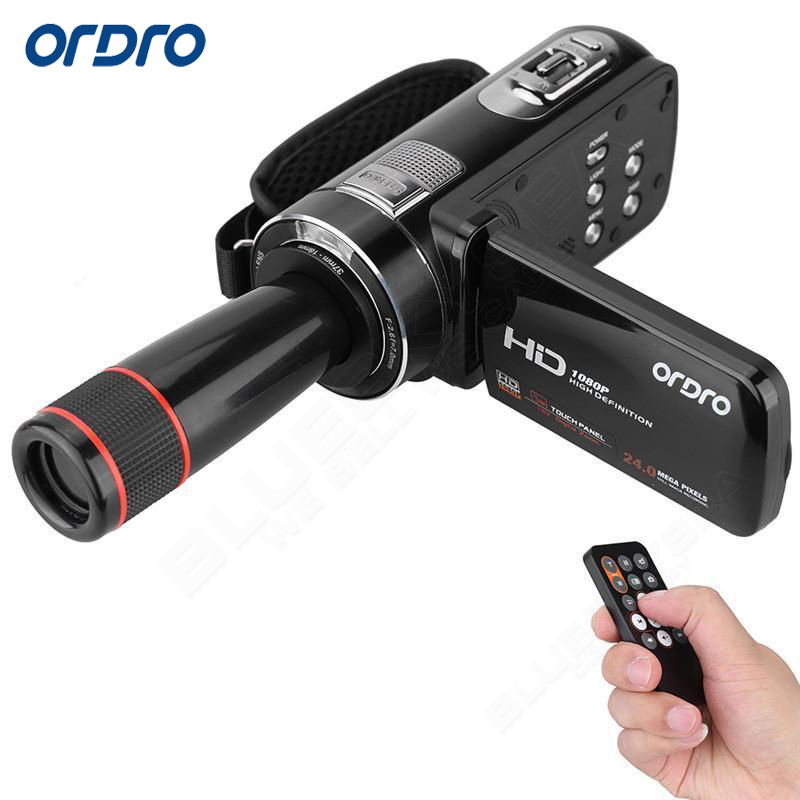 ORDRO HDV-Z8 Plus Digital Video Camera Recorder 1080P Full HD 16X Zoom 3.0 LCD Camcorder DV Camera Cam Remote Control Support