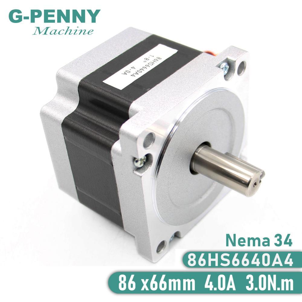 NEMA 34 Stepper Motor 86X66mm 3 N.m 4A Shaft 14mm NEMA34 Stepping Motor 428Oz in for CNC Laser Engraving Machine and 3D printer