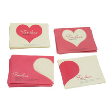 Kicute 10pcs Cartoon Paper Envelope Romantic Red Love Heart Pattern Mini Envelope for Wedding Party Invitation Gift Envelope(China)
