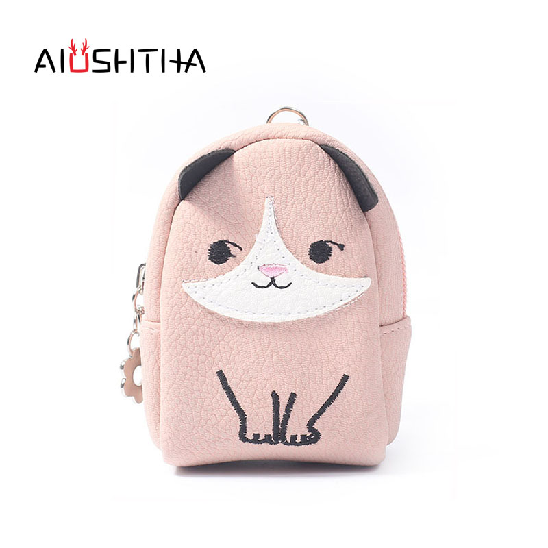 Dog women coin purses and wallets for girls money key headset bags of famous designer brands small new arrival cute cartoon mini